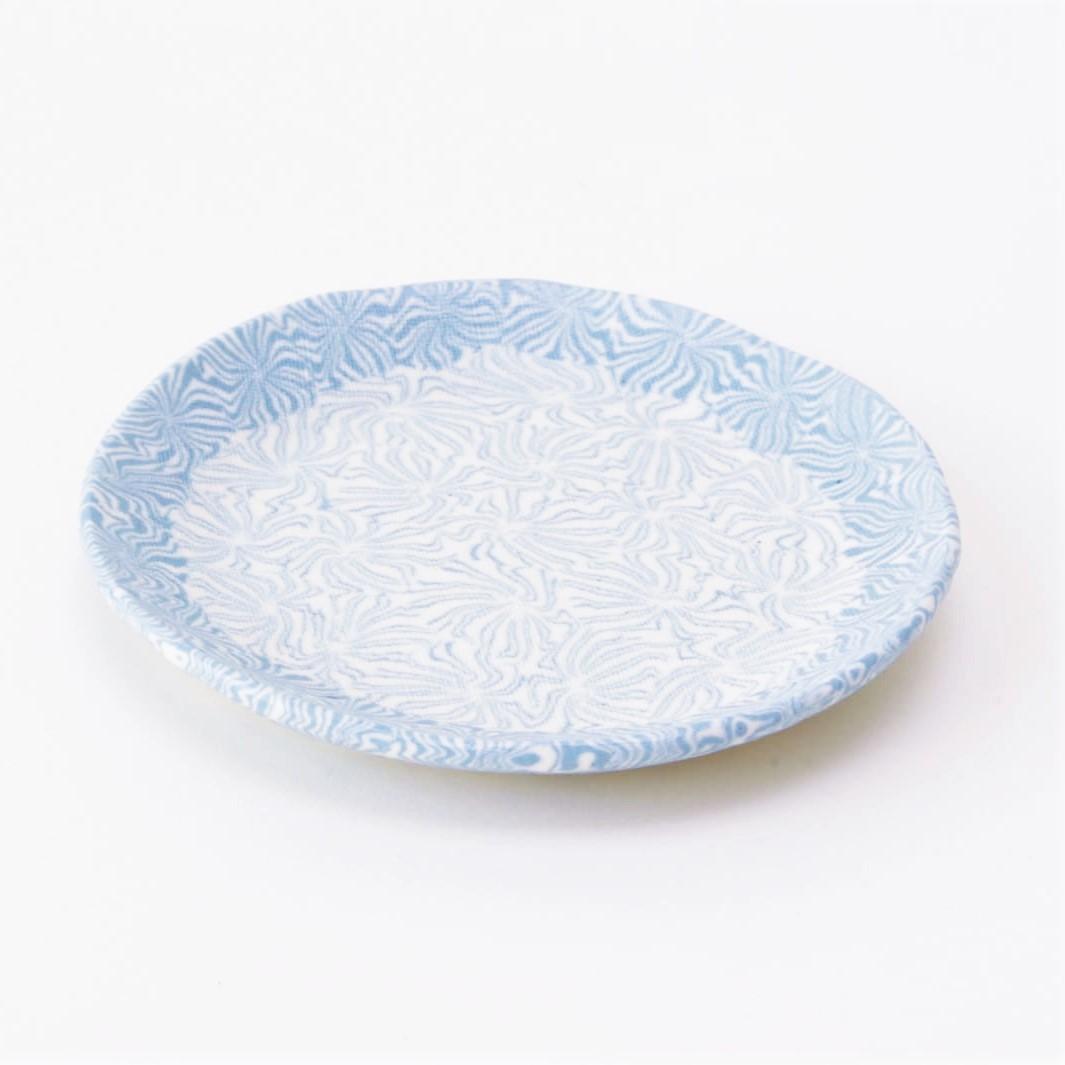 練り込み_ブルー更紗2.8丸皿