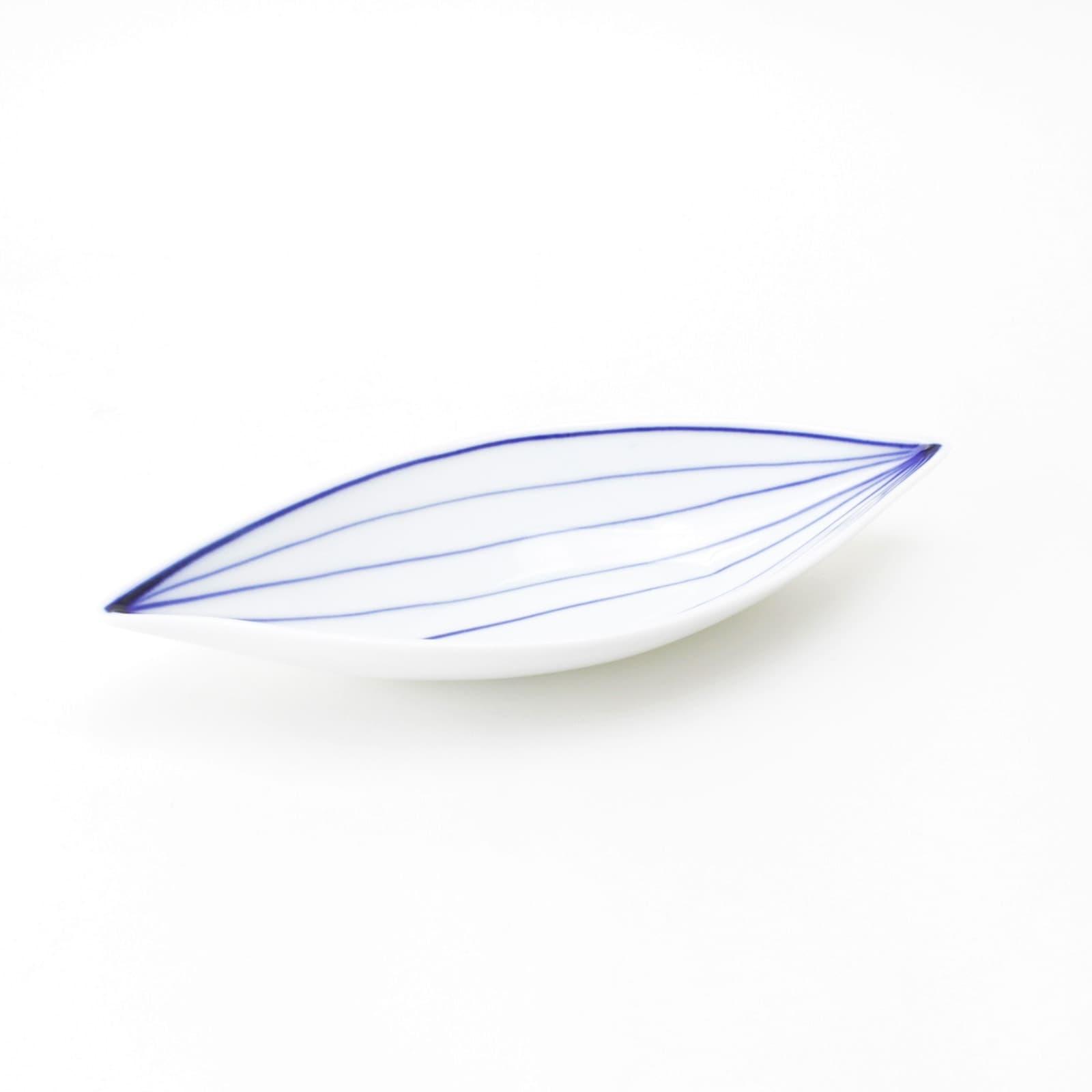 葉脈葉型24cm皿